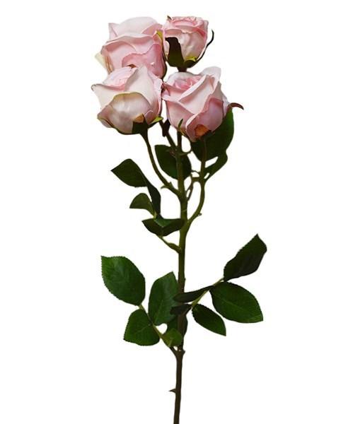"""Искусственный цветок """"Роза"""" розовая - фото 8400"""