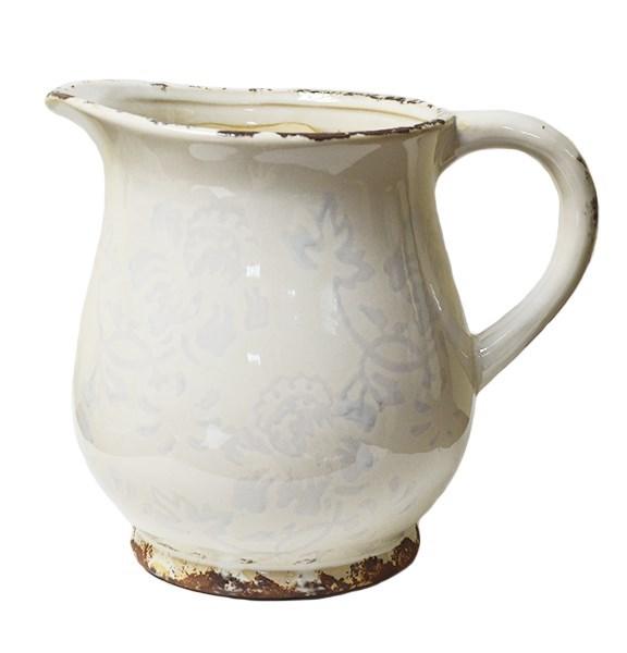 Кувшин керамический молочный - фото 8456