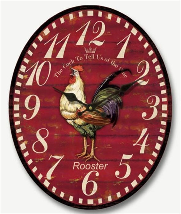 "Часы настенные ""Петух"" - фото 8488"