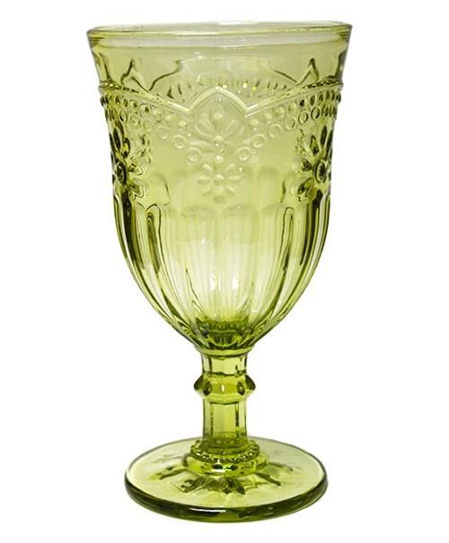 """Бокал """"Версаль"""" зеленый 300 мл из цветного стекла - фото 8563"""