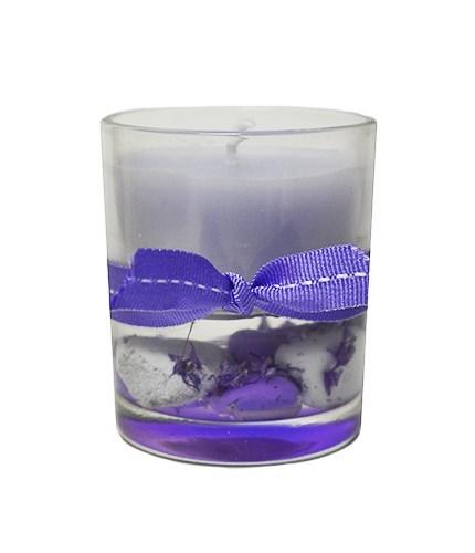 Свеча лавандовая с композицией - фото 8608