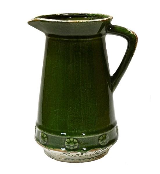 Кувшин керамический зеленый - фото 8621