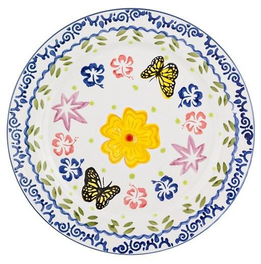 """Тарелка сервировочная """"Бабочки"""" - фото 8668"""