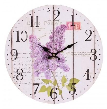 """Часы настенные """"Ветка сирени"""" - фото 8733"""