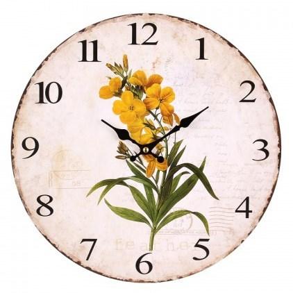 """Часы настенные """"Желтые цветы"""" - фото 8737"""