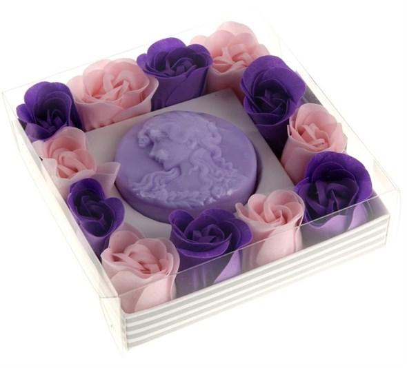 """Подарочный набор """"Лавандовая романтика"""": мыло 60 гр, мыльные лепестки - фото 8837"""