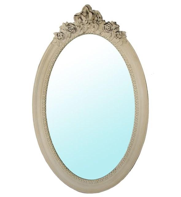 Зеркало настенное овальное резное - фото 8896