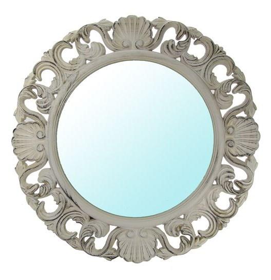Зеркало настенное круглое резное - фото 8898