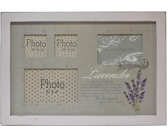 "Фоторамка ""Лаванда"" на четыре фотографии: 14х9 см, 12х8 см, 6х6 см - фото 9123"