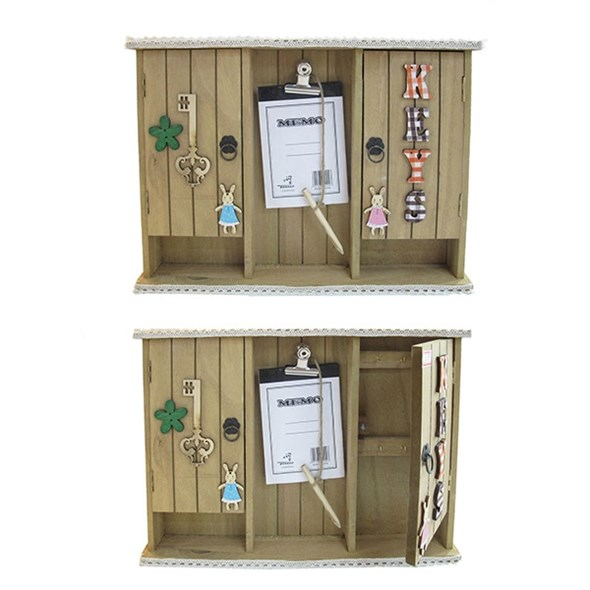 Ключница с двумя ящиками и блокнотом для заметок - фото 9205