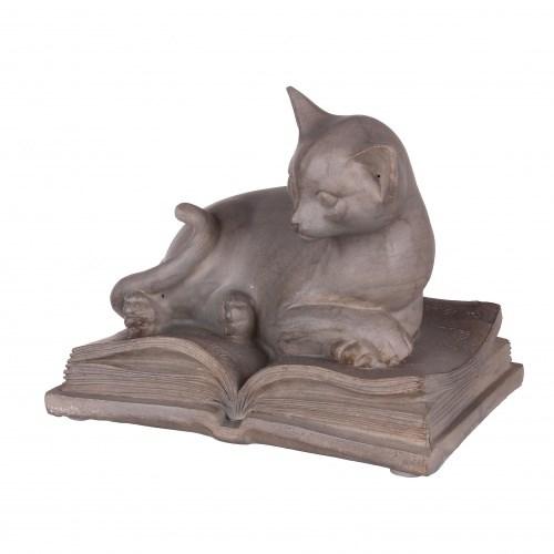 """Статуэтка """"Кошка на книге"""" - фото 9259"""