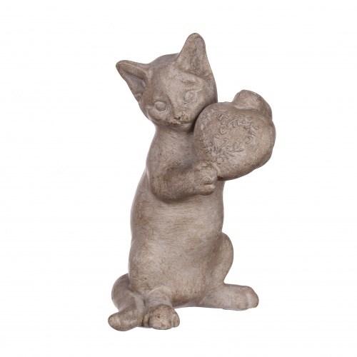 """Статуэтка """"Кошка с сердцем"""" - фото 9264"""
