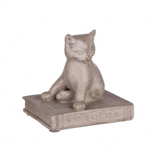 """Статуэтка """"Кошка на книге"""" - фото 9267"""