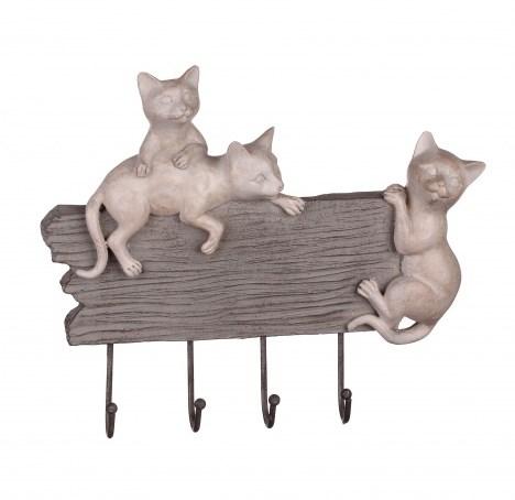 """Вешалка настенная """"Три котенка"""" с крючками - фото 9271"""