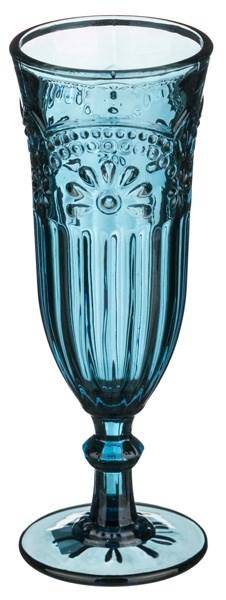 """Бокал для шампанского """"Версаль"""" 200 мл синий из цветного стекла - фото 9293"""