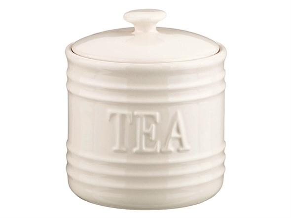 "Банка для хранения ""Чай"" 750 мл белая - фото 9304"