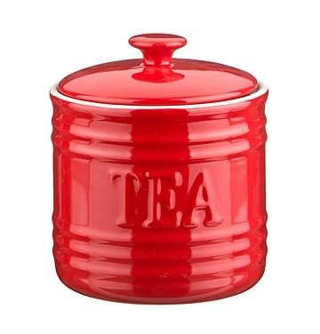 "Банка для хранения ""Чай"" 750 мл красная - фото 9306"