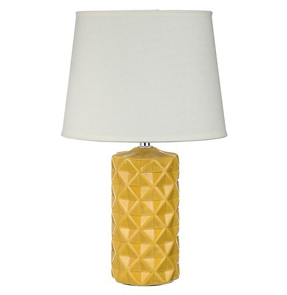 Лампа настольная желтая - фото 9339