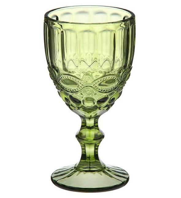 """Бокал """"Франция"""" зеленый 300 мл из цветного стекла - фото 9512"""