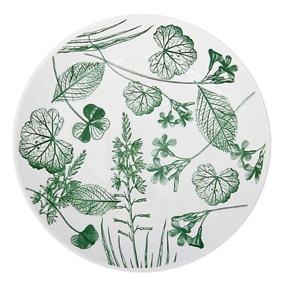 "Тарелка ""Гербарий 2"" диаметр 22 см зеленая - фото 9525"