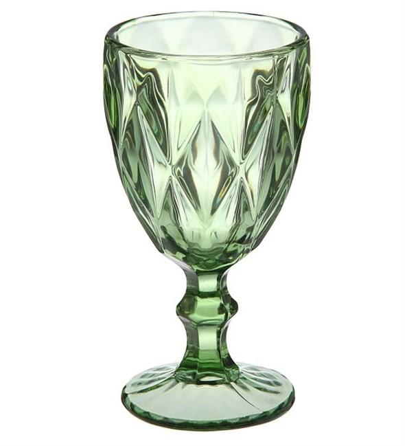 """Бокал """"Клетка"""" зеленый 300 мл из цветного стекла - фото 9532"""