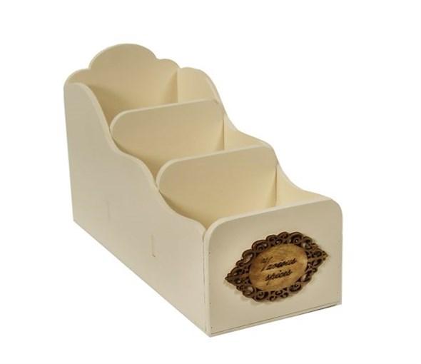 Подставка для емкостей и специй молочная - фото 9557