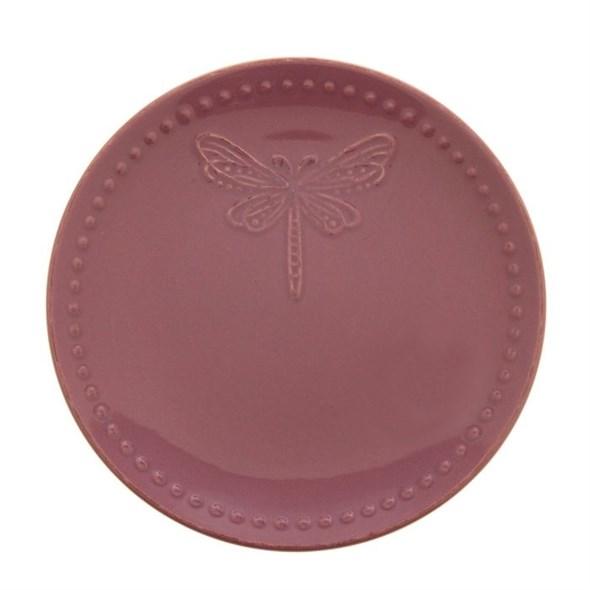 "Тарелка ""Стрекоза"" диаметр 20 см фиолетовая - фото 9568"