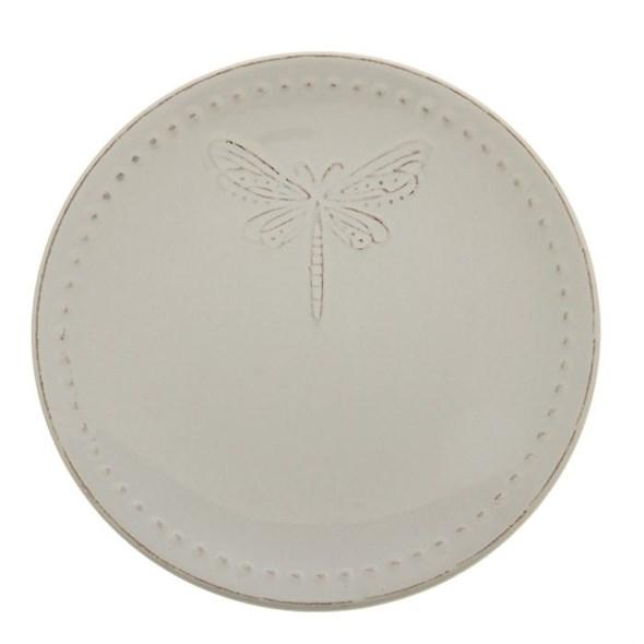 "Тарелка ""Стрекоза"" диаметр 20 см молочная - фото 9570"