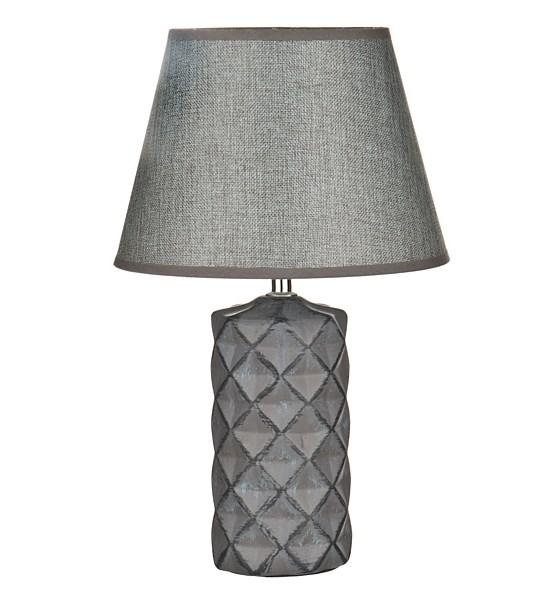 Лампа настольная серая - фото 9600