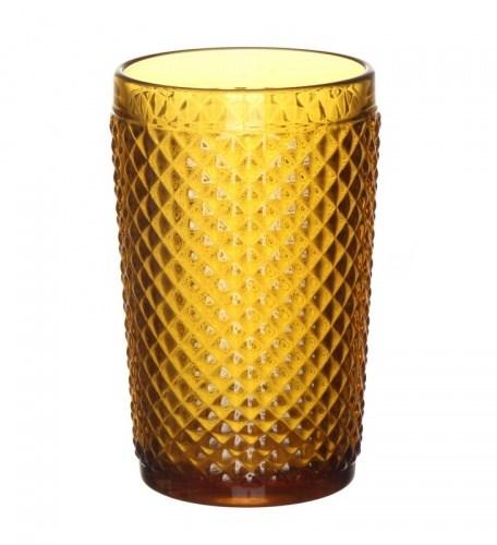 """Стакан """"Винтаж"""" желтый из цветного стекла - фото 9678"""