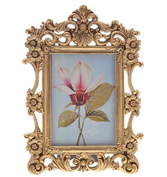 """Фоторамка """"Золотые цветы"""" 10х15 см - фото 9839"""