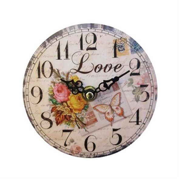 """Часы настенные """"Любовь"""", диаметр 12 см - фото 9898"""
