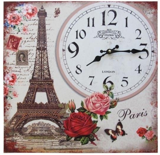 "Часы-панно ""Любовный Париж"" - фото 9904"