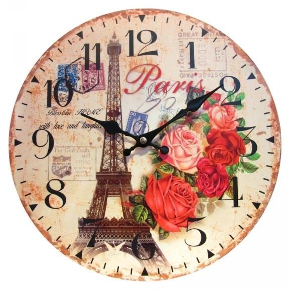 """Часы настенные """"Розы Парижа"""" - фото 9907"""