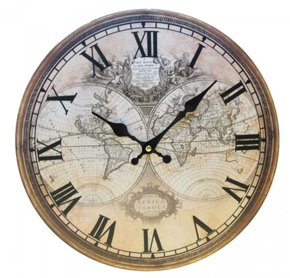 """Часы настенные """"Карта мира"""" - фото 9909"""