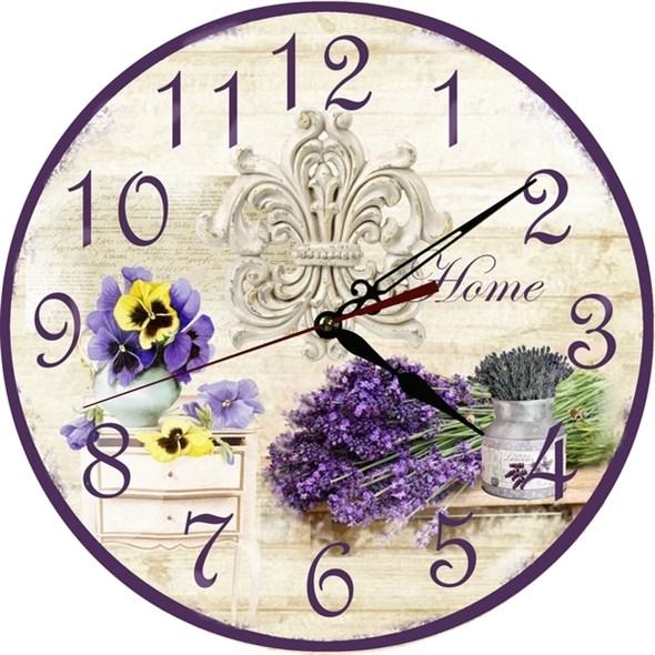 """Часы настенные """"Дом с лавандой"""" - фото 9985"""