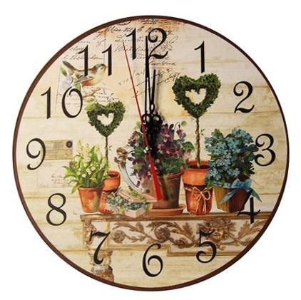"""Часы настенные """"Цветочный натюрморт"""" - фото 9989"""