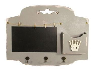 Доска для заметок с крючками и кармашком