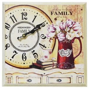 """Часы-панно в раме """"Любимая семья"""""""
