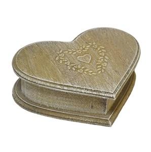 "Шкатулка деревянная ""Винтажное сердце"""