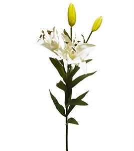 """Цветок искусственный """"Лилия белая"""""""