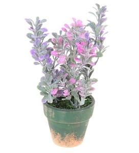 Цветок искусственный в кашпо, высота 19 см