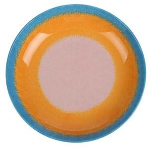 Тарелка глубокая персиковая, диаметр 20 см