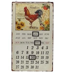 "Календарь магнитный металлический ""Петушок коричневый"""