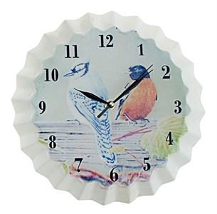 """Часы настенные металлические """"Птицы"""" #1"""