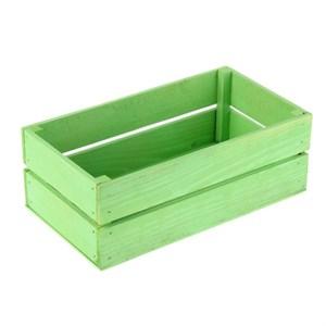 Ящик деревянный зеленый 24,5 х 13,5 см