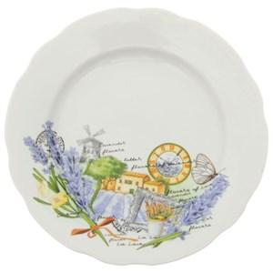 """Тарелка """"Лавандовое поле"""" диаметр 20 см, в ассортименте разный рисунок"""