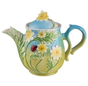 """Чайник керамический заварочный """"Цветочный узор"""" 900 мл"""