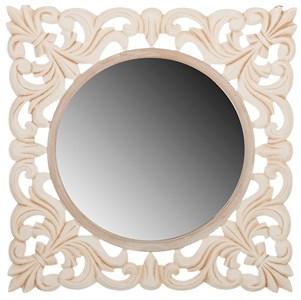 Зеркало настенное квадратное резное
