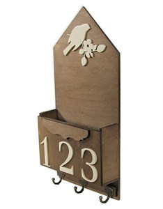 Ящик настенный с крючками